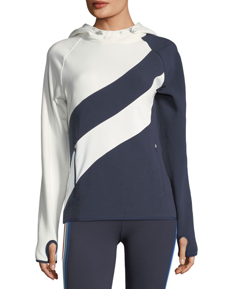 Tory Sport Tops HOODED RUNNING TOP