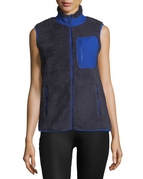 Sherpa Zip-Front Fleece Vest