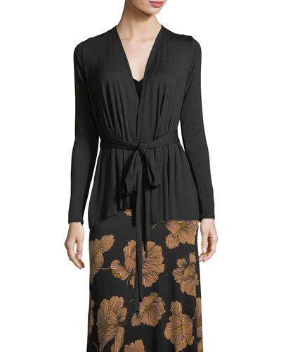 Carleigh Tie-Front Cardigan, Plus Size