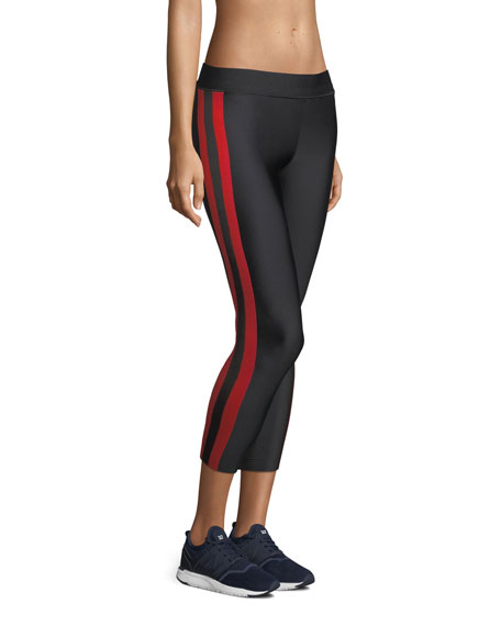 Matte Collegiate Cropped Performance Leggings