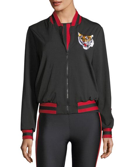Silky Collegiate Bomber Jacket