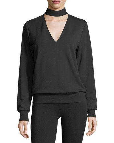Eye Splice Long-Sleeve Sweatshirt