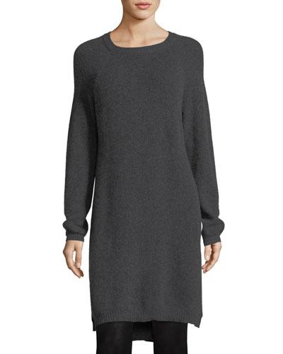 Fine-Gauge Cashmere Extra Long Tunic