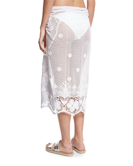 Layna Crochet Pareo Coverup, One Size