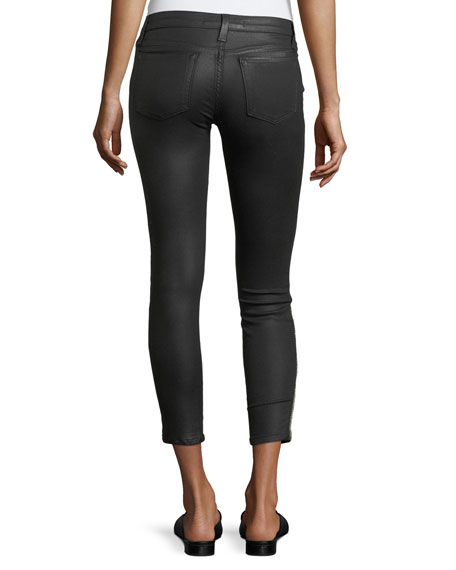 The Icon Ankle Coated Pants w/ Studs