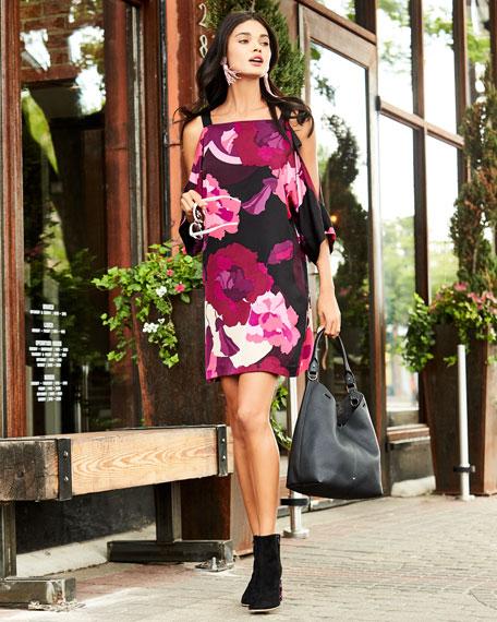 Laurel Floral-Print Cold-Shoulder Dress