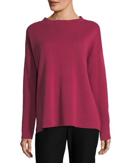 Eileen Fisher Silk Organic Cotton Interlock Top and