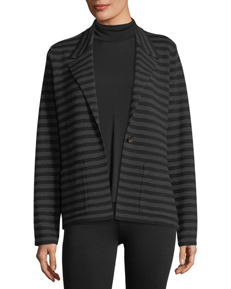 Eileen Fisher Merino Interlock Striped Blazer