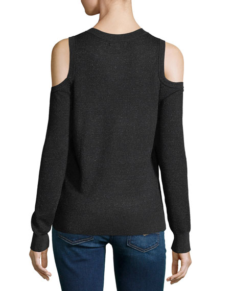 Page Crewneck Cold-Shoulder Sweater