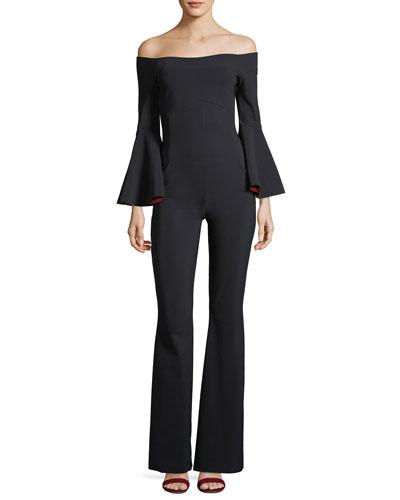 Nancy Off-the-Shoulder Wide-Leg Jumpsuit
