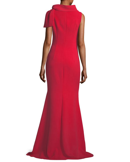 Self-Tie Sleeveless Column Gown