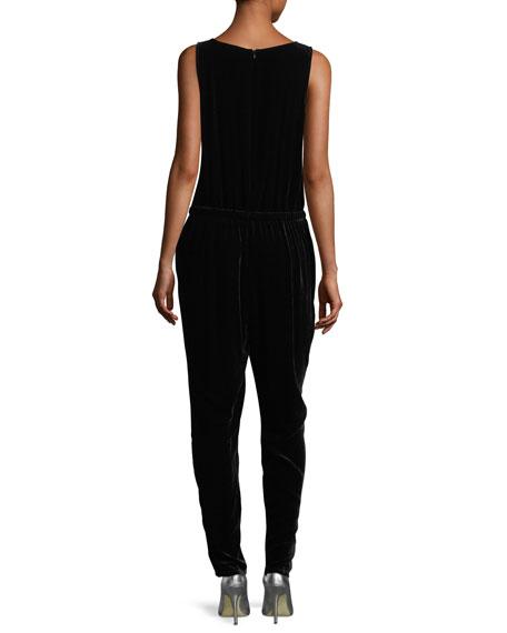 Silky Velvet Jogger Jumpsuit, Plus Size