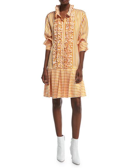 Live A Little Striped Shirtdress