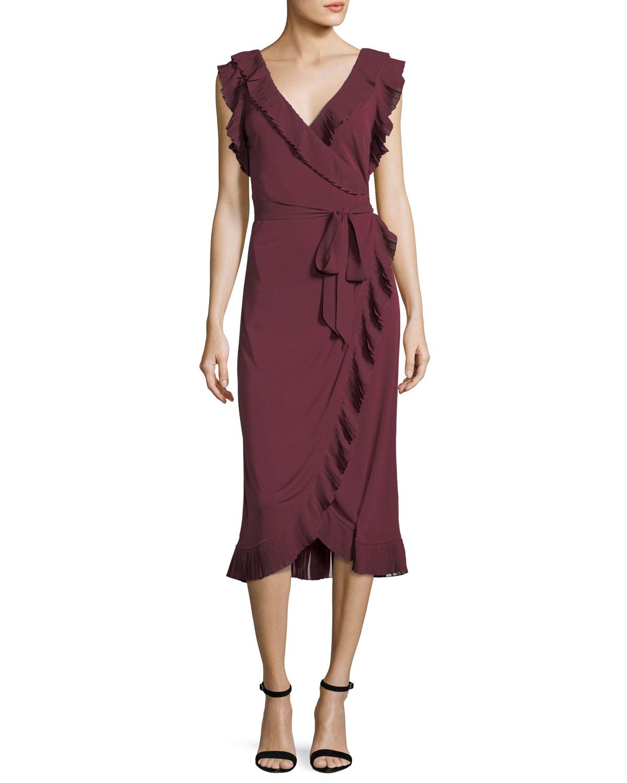 16ab050df13f Tory Burch Whitney Ruffled Jersey Wrap Dress