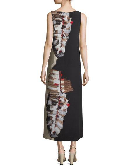 Palmer Impasto-Leaf Draped Dress