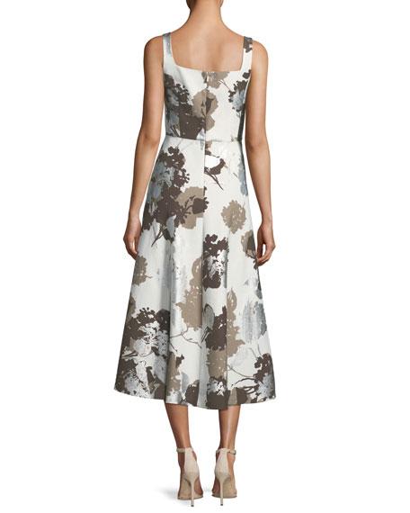Glistening Garden Sleeveless A-Line Dress