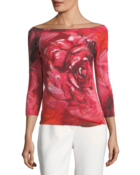 Floral-Print Off-the-Shoulder Top