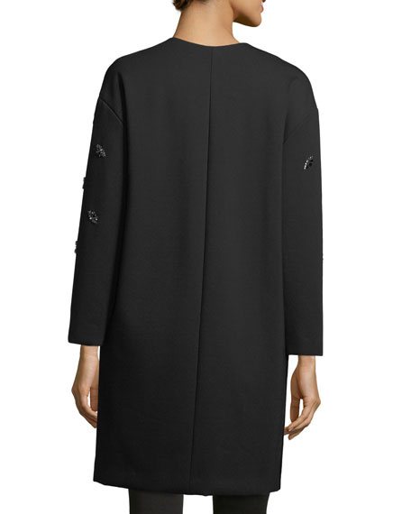 Ellena Embellished Duchess Satin Coat