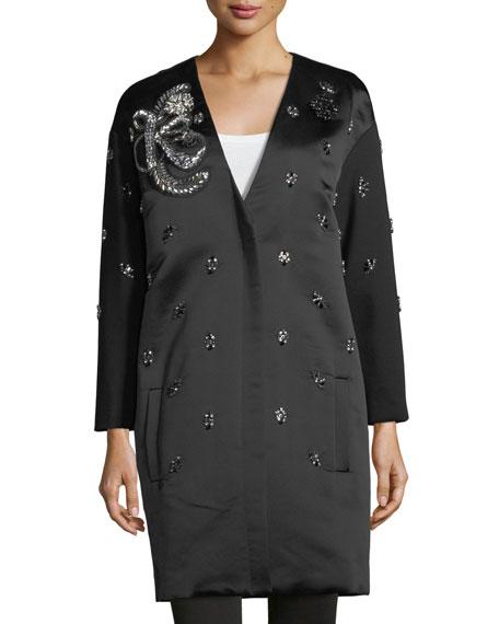 Kobi Halperin Ellena Embellished Duchess Satin Coat