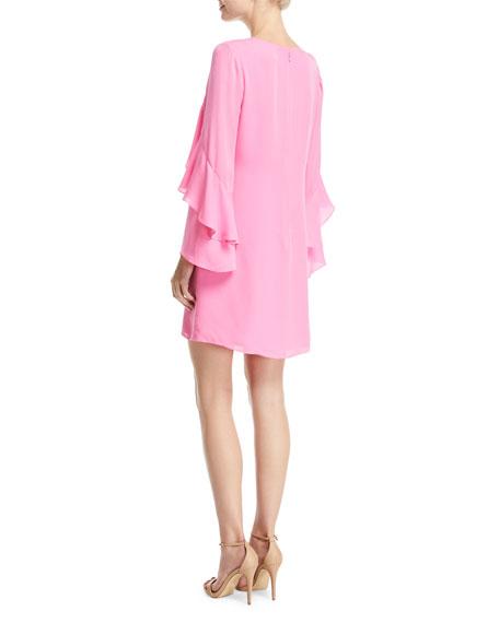 Bethenny Ruffled Long-Sleeve Dress