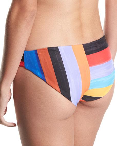 Zoa Brushed Stripes Swim Bikini Bottom