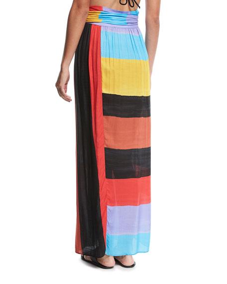Cora Colorblocked Convertible Coverup Maxi Skirt/Dress
