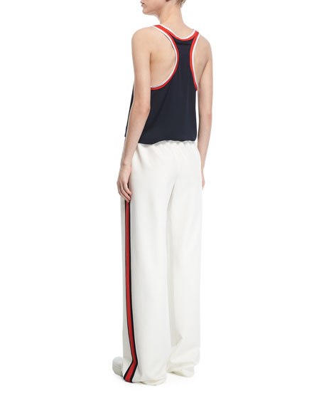 STRETCH SILK TRACK TANK