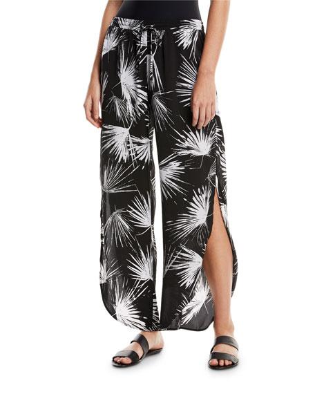 Petal Print Coverup Pants