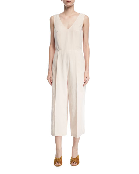 Club Monaco Torela Tieback Sleeveless Wide-Leg Jumpsuit