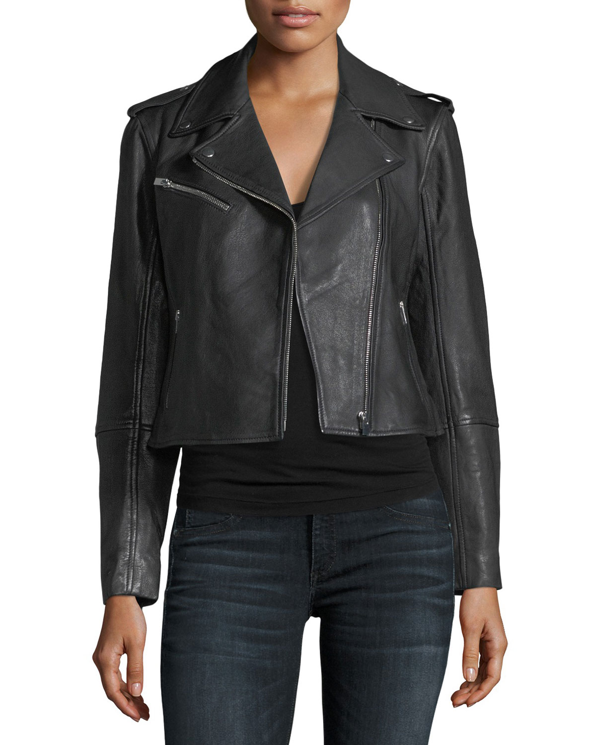 Fall Trends: Women's Leather Jackets at Neiman Marcus
