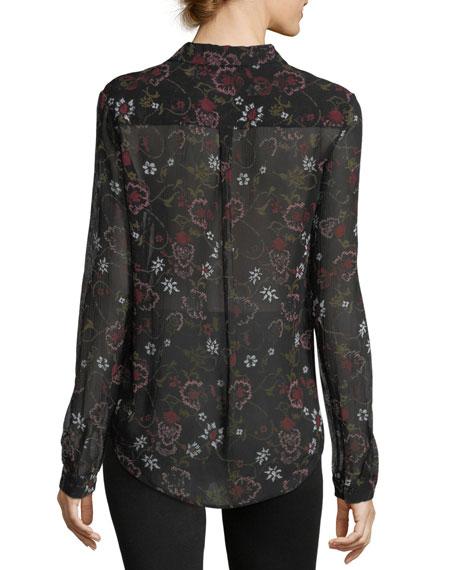 Linara Floral-Print Button-Front Shirt