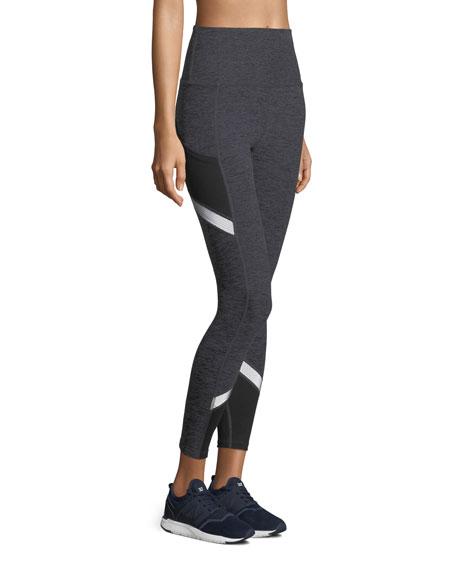 Space-Dye Refraction High-Waist Full-Length Performance Leggings