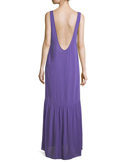 Valentina Scoop-Neck Coverup Maxi Dress