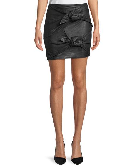 Etoile Isabel Marant Gritanny Washed Leather Skirt and