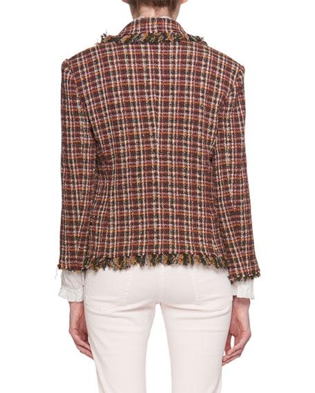 Nicole Shawl-Collar Tweed Blazer