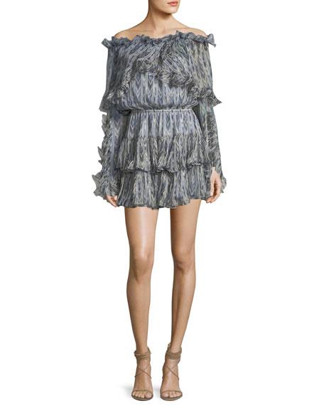 Caroline Constas Dahlia Off-the-Shoulder Printed Dress with