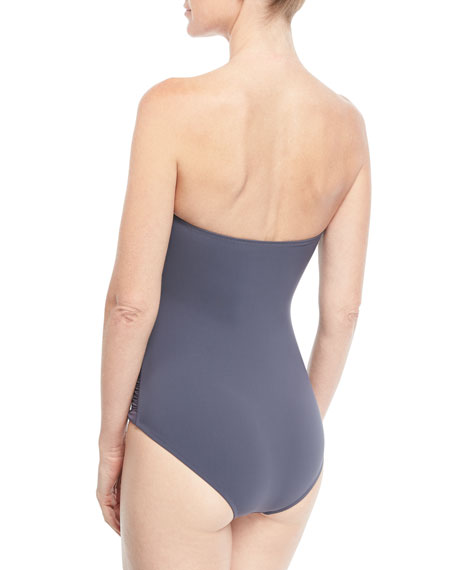 Cannes Ruched Control Bandeau One-Piece Swimsuit