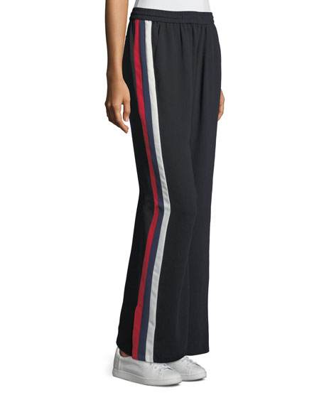 Joie Perlyn Wide-Leg Pants Side-Stripe Pull-On Pants