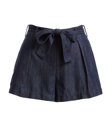 Pike Chambray Cotton Shorts