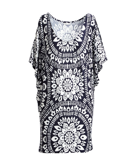 Indochine Scoop-Neck Printed Tunic Top