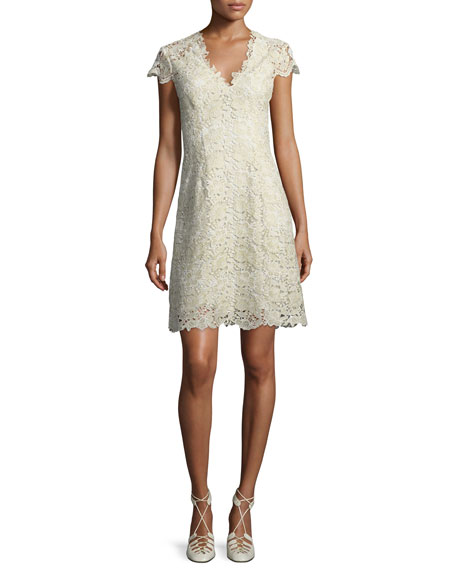 Meena Lace Overlay Cocktail Dress