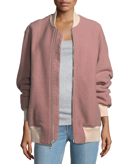 Rag & Bone Elle Zip-Front Virgin Wool Bomber