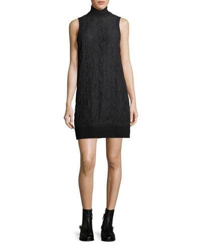 Sofiya Turtleneck Sleeveless Lace Dress
