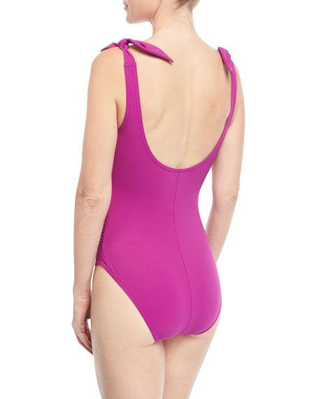 Barcelona V-Neck Silent Underwire One-Piece Swimsuit