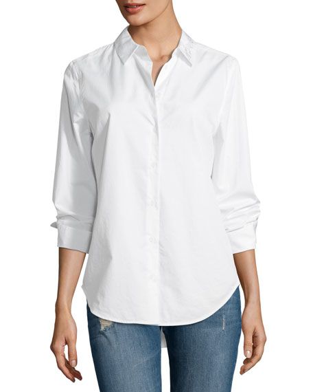 Equipment Essential Embroidered Cotton Shirt