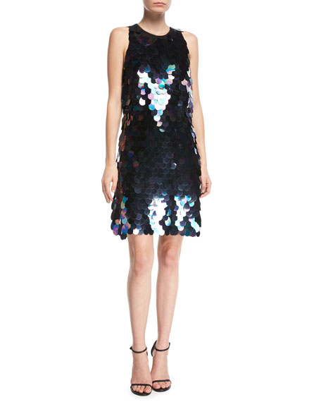 Aidan by Aidan Mattox Sleeveless Paillette-Embellished Cocktail