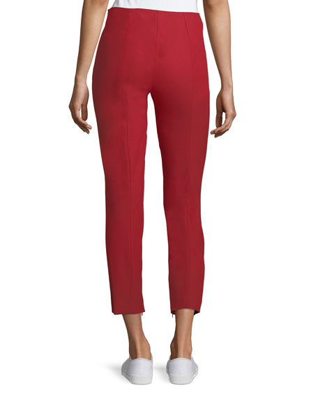 Alettah Mid-Rise Approach Pants, Red