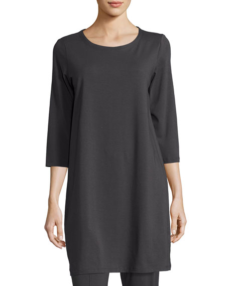 Eileen Fisher 3/4-Sleeve Organic Stretch-Jersey Tunic