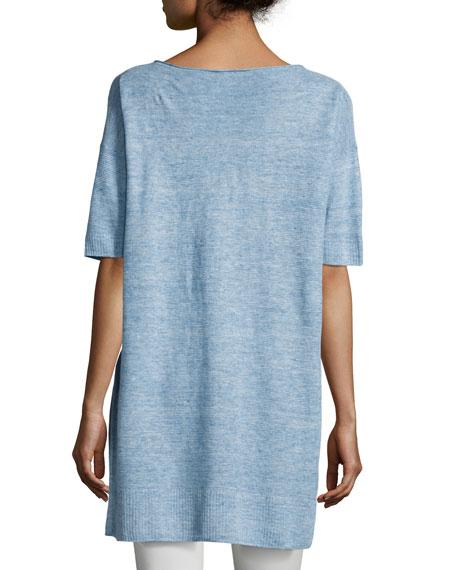Lightweight Linen Melange Tunic