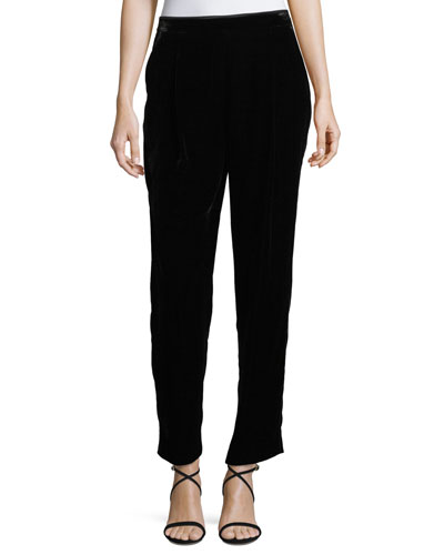 Soho Velvet Track Pants